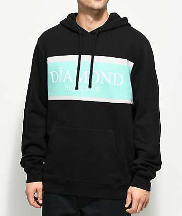 Diamond Supply Co. Mayfair Black & Blue Hoodie