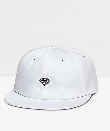 Diamond Supply Co. Micro Brilliant White Strapback Hat