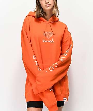 Diamond Supply Co. Mini OG Sign sudadera con capucha naranja