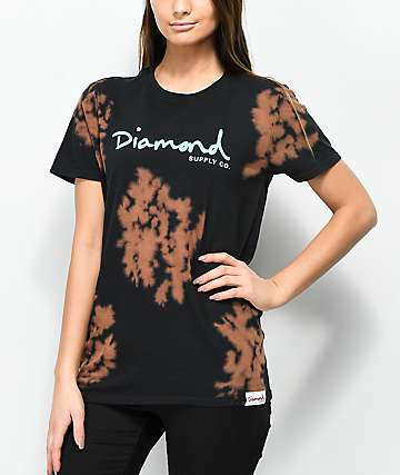 Diamond Supply Co. OG Script Black & Brown Tie Dye T-Shirt