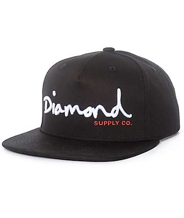 Diamond Supply Co. OG Script Black Snapback Hat
