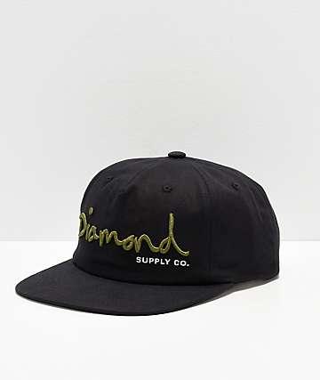 ae740276 Diamond Supply Co. OG Script Black Strapback Hat