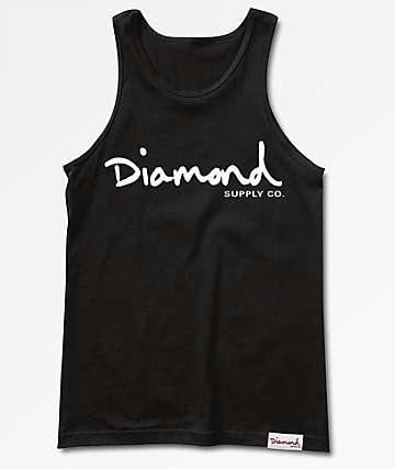 Diamond Supply Co. OG Script Black Tank Top