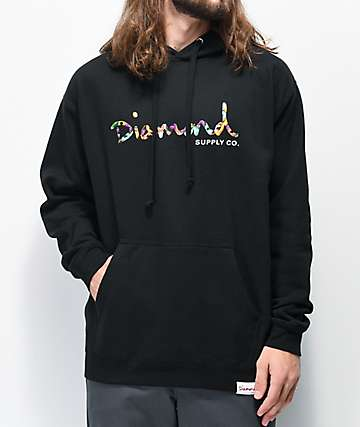 Diamond Supply Co. OG Script Fasten Black Hoodie