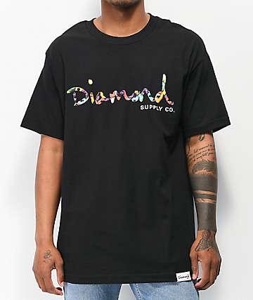 d5a0d0c08 Diamond Supply Co. OG Script Fasten Black T-Shirt
