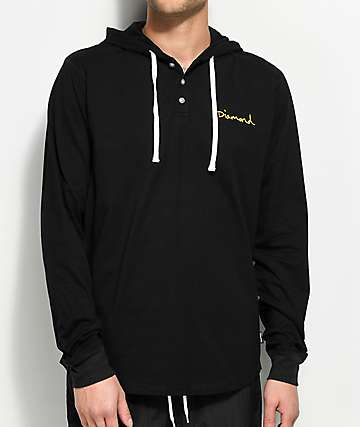 Diamond Supply Co. OG Script Henley Hoodie