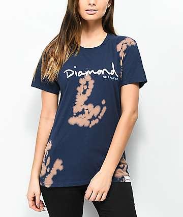 Diamond Supply Co. OG Script Navy Tie Dye T-Shirt