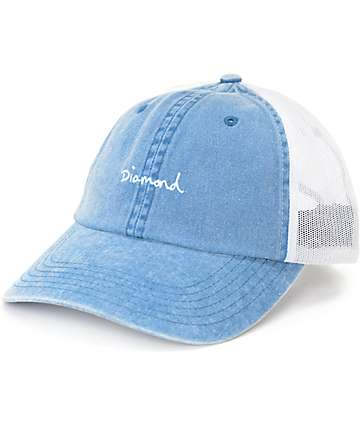 Diamond Supply Co. OG Script Sports Blue Trucker Hat