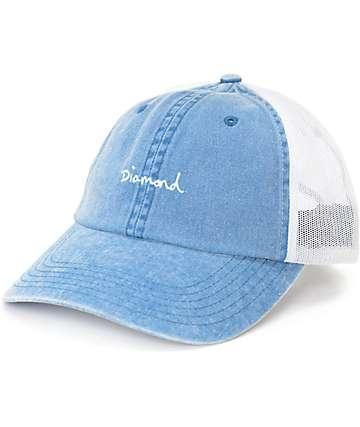 Diamond Supply Co. OG Script Sports Blue Trucker Hat
