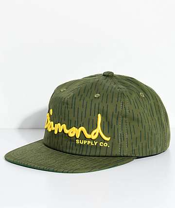 Diamond Supply Co. OG Script Unstructured Camo Snapback Hat