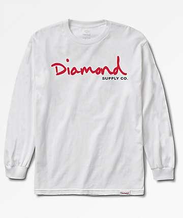 Diamond Supply Co. OG Script White Long Sleeve T-Shirt