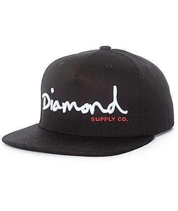 Diamond Supply Co. OG Script gorra snapback en negro