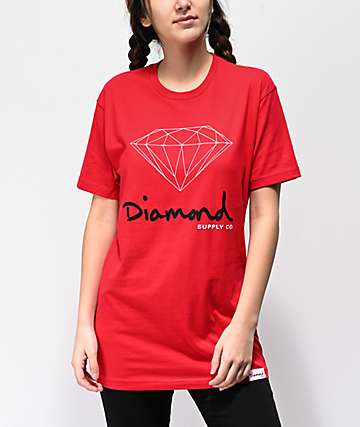 Diamond Supply Co. OG Sign Red Boyfriend T-Shirt