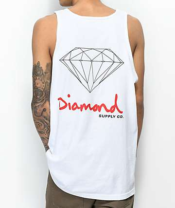 Diamond Supply Co. OG Sign camiseta blanca sin mangas