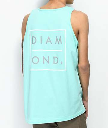 Diamond Supply Co. Outline 2 Tone Diamond Blue Tank Top