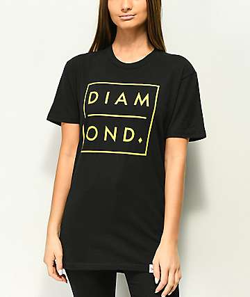 Diamond Supply Co. Outline Black T-Shirt