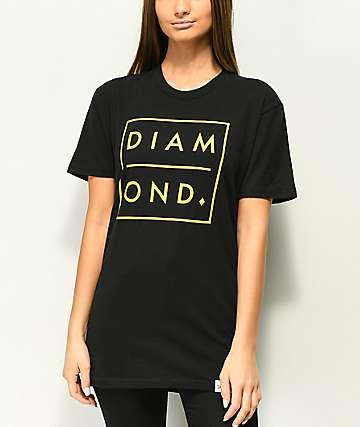 Diamond Supply Co. Outline camiseta negra