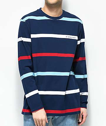 Diamond Supply Co. Paradise Striped Long Sleeve Knit Shirt