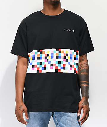 991f86839 Diamond Supply Co. Pixel Panel Black T-Shirt