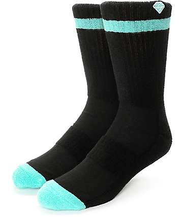 Diamond Supply Co. Pro Diamond Black Crew Socks
