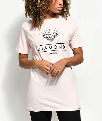 Diamond Supply Co. Radiance Light Pink T-Shirt