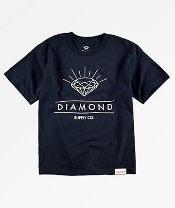 Diamond Supply Co. Radiance camiseta azul marino para niños