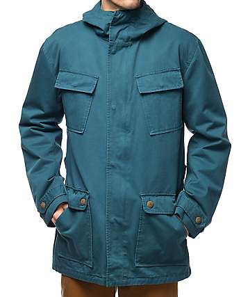 Diamond Supply Co. Recon Fishtail chaqueta en verde azulado