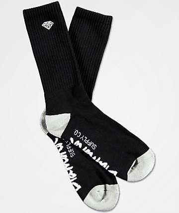 Diamond Supply Co. Rock Logo & Script calcetines negros
