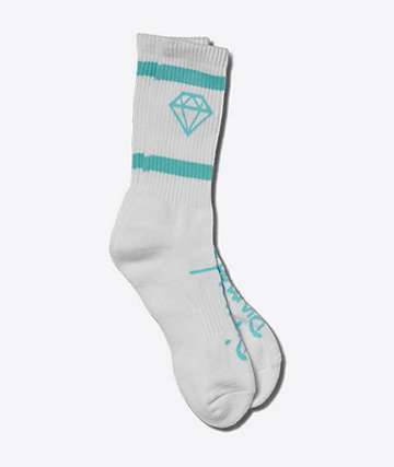 Diamond Supply Co. Rock Sport White & Blue Crew Socks