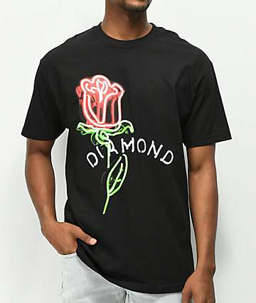 Diamond Supply Co. Rosette Black T-Shirt