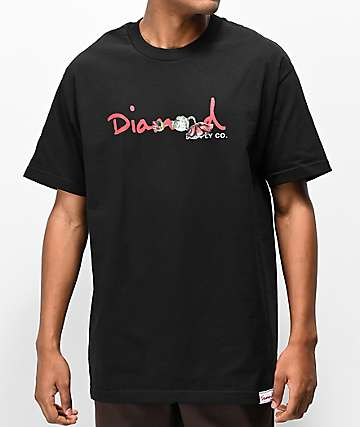 5ccecf98 Diamond Supply Co. Rosette Black T-Shirt