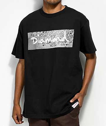 Diamond Supply Co. Scattered Box Logo camiseta negra