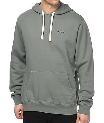 Diamond Supply Co. Script Green Hoodie