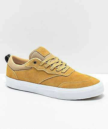 Diamond Supply Co. Series Low Brown & White Skate Shoes