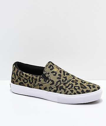 Diamond Supply Co. Slip-on zapatos de skate de guepardo