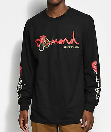 Diamond Supply Co. Snake OG Black Long Sleeve T-Shirt