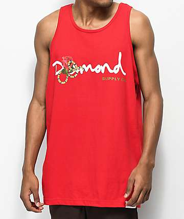 Diamond Supply Co. Snake OG camiseta sin  mangas roja