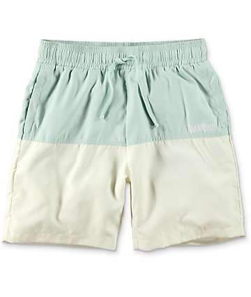 Diamond Supply Co. Speedway board shorts híbridos en color menta