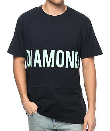 Diamond Supply Co. Speedway camiseta en azul marino