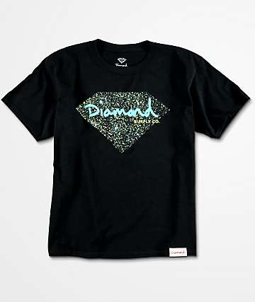 Diamond Supply Co. Splatter Black Boys T-Shirt