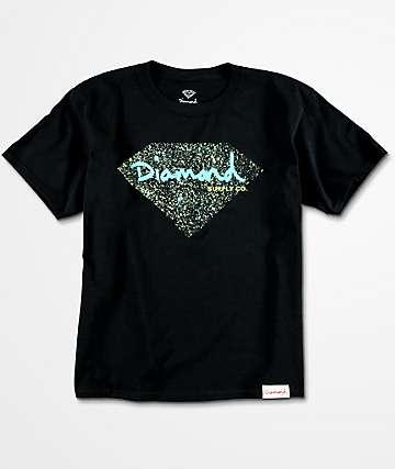 Diamond Supply Co. Splatter camiseta negra para niños