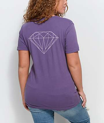 Diamond Supply Co. Stone Cut camiseta morada
