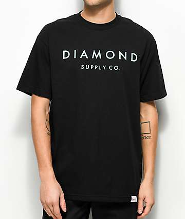 Diamond Supply Co. Stone Cut camiseta negra