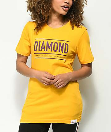 Diamond Supply Co. Subtitle Yellow T-Shirt