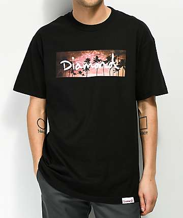 Diamond Supply Co. Sunset Palms Black T-Shirt