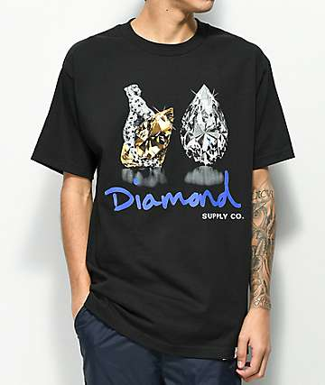 Diamond Supply Co. Tiger camiseta negra