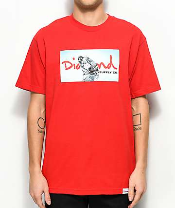 Diamond Supply Co. Transparent Red T-Shirt