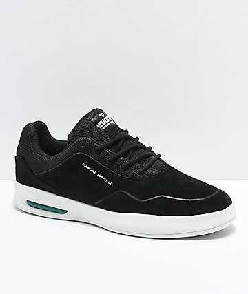 Diamond Supply Co. Tucker Pro Black & White Suede Skate Shoes