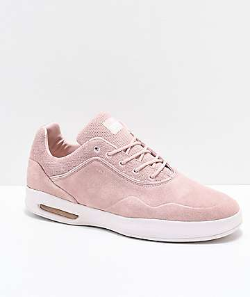 Diamond Supply Co. Tucker Pro Pastel Pink Suede Skate Shoes