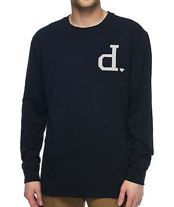 Diamond Supply Co. Un-Polo Football Long Sleeve Navy T-Shirt